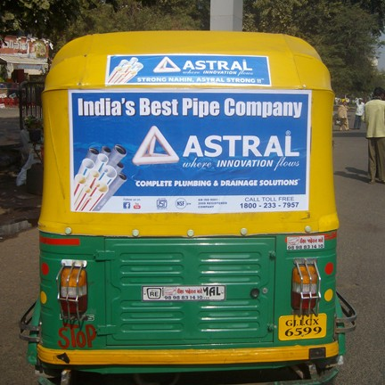 Auto Rickshaw Advertising for Astral