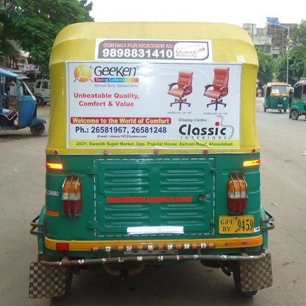 Auto Rickshaw Advertising for Classic
